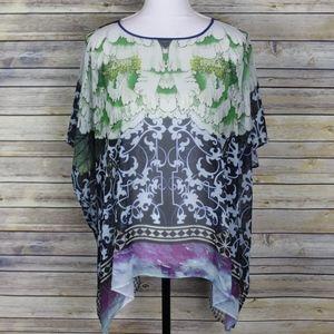 Clover Canyon Dolman Sleeve Printed Blouse